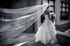 Black and white wedding picture....