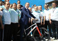 T.C. CUMHURBAŞKANLIĞI : Cumhurbaşkanlığı Bisiklet Turnuvası Basın Turu, Cumhurbaşkanlığı Külliyesi'nde Yapıldı