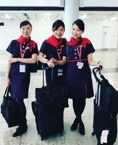 【香港】香港航空客室乗務員/Hong Kong Airlines Cabin crew【Hong Kong】 Hong Kong Airlines, Airline Cabin Crew, Flight Attendant, Hosiery, Tights, Photo And Video, Female, Lady, How To Wear