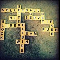 Scrabble volleyball❤️
