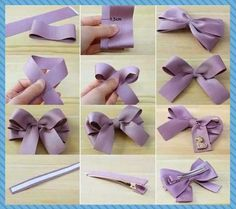 Making Your Hair Bow Credit : Lovehobbycraft Diy Hair Bows, Making Hair Bows, Diy Bow, Diy Ribbon, Ribbon Work, Ribbon Crafts, Fabric Bows, Fabric Flowers, Hair Bow Tutorial