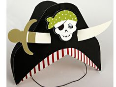 """Pirate Party - the party captains and first mates as well as some """"honorary"""" Pink Pirates wore the Meri Meri Pirate Party hats. Pirate Kids, Pirate Day, Pirate Birthday, Pirate Theme, Third Birthday, Pirate Party Games, Pirate Party Invitations, Pirate Party Decorations, Pirate Images"""