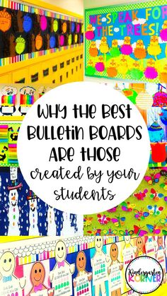 Student Created Bulletin Boards for the ENTIRE YEAR of Kindergarten or Grade - Colorful Dreams Kindergarten Nursery Bulletin Board Display, Classroom Bulletin Boards, Classroom Decor, Preschool Bulletin, Classroom Hacks, Classroom Displays, Elementary Teacher, Elementary Schools, Elementary Library