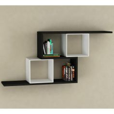 Zerre Bookcase in Black and White - Casafina
