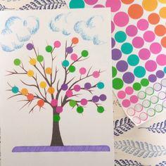 Réalise ton arbre d'automne (ou de printemps) en gommettes { DIY & Activités Manuelles } { Motricité fine - Inspiration Montessori } - Plus de mamans Theme Nature, Land Art, Babysitting, Diy And Crafts, Activities, Kids, Alphabet, Stickers, Index Cards