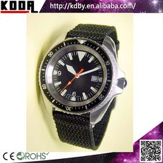 200M Waterproof Stainless Steel Army Military Green Nylon Dive Watches 2015 New