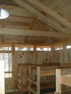 Image detail for -Post & Beam Camper Cabin Interior