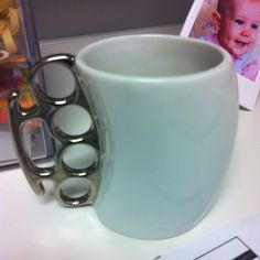 If I don't get my morning coffee, you might as well give me brass knuckles! My Coffee, Morning Coffee, Coffee Cups, Possibility Quotes, Brass Knuckles, Give It To Me, How To Get, Derp, Apartment Ideas