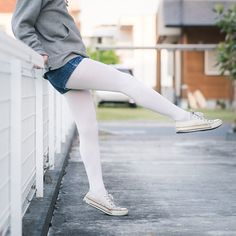 Mens Tights, Shorts With Tights, Tights Outfit, White Tights, White Jeans, School Dresses, Winter Fashion, Cute Outfits, Stockings
