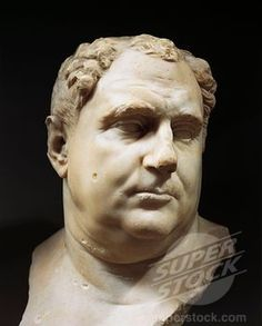 , Marble bust of Vitellius  roman