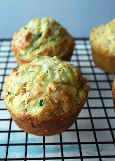 So they don't back up quite this nice and it's worth noting this is a VERY thick batter but overall came out great.  Tasty lunch muffin if you don't want to make a sandwich this has it all baked in - 4/25/13 bt - Gluten Free Zucchini Ham Corn Muffins