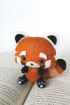 PDF Pattern Felt Red Panda Plush by typingwithtea on Etsy