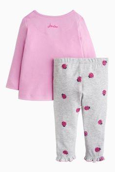 Joules Mauve Baby Poppy Appliqué Set