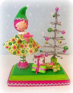 precious dolly and Christmas tree