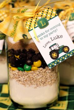 Hope Studios: John Deere Baby Shower!  I like the cookie mix as a party favor.