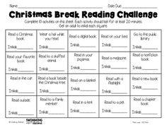 """Spring break reading challenge freebie - One satisfied customer said, """"These are one of my favorite resources. My students love to see how many of the reading activities they can do during the breaks. 4th Grade Reading, Kids Reading, Reading Activities, Teaching Reading, Guided Reading, Teaching Ideas, Learning, Library Activities, Reading Skills"""