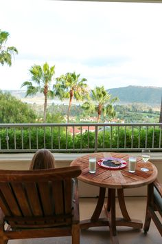 The view from a room at Park Hyatt Aviara Resort in Carlsbad San Diego
