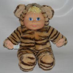 "Snuggle Love Tiger Baby Doll Kids Stuffed Plush Costume 15"" Vinyl Face 1998 #SnuggleLoveKids #Dolls"