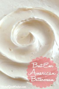 Best Ever American Buttercream {a tutorial} by WickedGoodKitchen.com ~ Creamy, silky, light, never gritty, greasy or oily, melts on the tongue and not too sweet…the perfect American Buttercream frosting for cakes and cupcakes! Learn the secret ingredients and easy technique in our step-by-step tutorial complete with photos. You are going to love this one…it tastes just like it came from an upscale bakery! All-natural, egg and soy free.