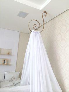 Dossel Teto Reale Baby Bedroom, Nursery Room, Girls Bedroom, Bedroom Decor, Bed Crown Canopy, Diy Canopy, My Room, Girl Room, Indian Home Interior