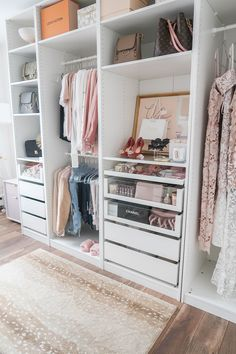 27 Ideas Clothes Closet Organisation Ikea For 2019 Ikea Small Spaces, Small Closet Space, Small Closets, Small Bedrooms, Clothes Storage Ideas For Small Spaces, Storage Spaces, Apartment Closet Organization, Ikea Closet Organizer, Organization Ideas