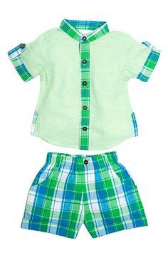Masalababy 'Island' Shirt & Shorts Set (Baby Boys) available at #Nordstrom
