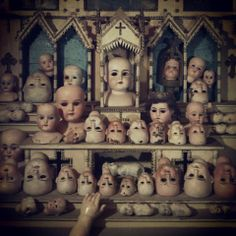 Alter of doll heads