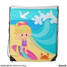 Sold #Surfer #girl #drawstringbag #watersport Available in different products. Check more at www.zazzle.com/celebrationideas