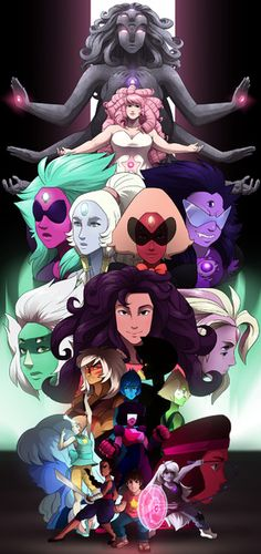 Steven Universe - All Together Canvas Print