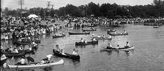 Canoe craze marked by romance, ribaldry