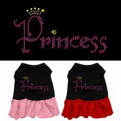 Princess Rhinestone Dog Dress – Gizmo's Dog Shop