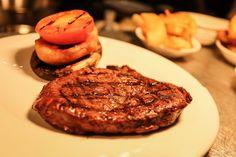 Delicious rare breed steak.