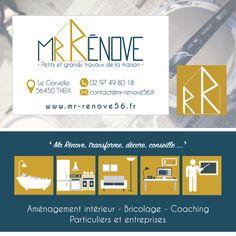 Identité visuelle complète pour Mr-Rénove! #logo #web #print @joliepub