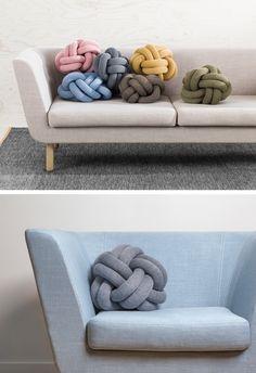 Swedish design brand, Design House Stockholm, have recently added Icelandic designer Ragnheiður Ösp Sigurðardóttir's Knot Cushions to their growing collection.