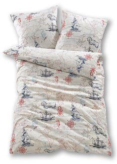 Biancheria da letto «Nautical», Linone Blu - bpc living è ordinabile nello shop on-line di bonprix.it da ? 12,99. Biancheria stampata con motivi marinari ...