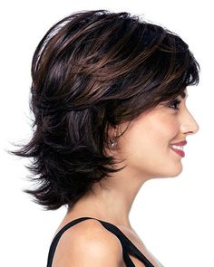 Wavy tone Classic Medium Wigs, Synthetic Wigs - Home Short Shag Hairstyles, Summer Hairstyles, Braided Hairstyles, Wedding Hairstyles, Black Hairstyles, American Hairstyles, Homecoming Hairstyles, Thick Hair Styles Medium, Curly Hair Styles