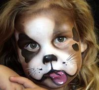 5 ways to face paint a puppy dog - click through for more... #facepaint #facepainting ideas for kids