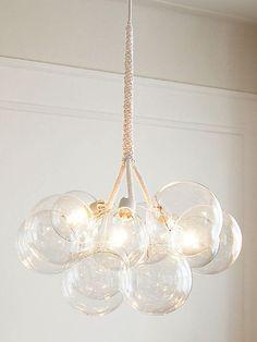 luminária pendente de cúpulas de vidro