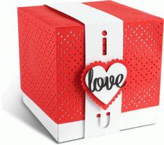Silhouette Design Store - Design #68304: I Love You - Valentine's Day gift box  by Tanya Batrak  (for Silhouette CAMEO or Portrait!)