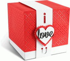 Silhouette Design Store - Design #68304: I Love You - Valentine's Day gift box  by Tanya Batrak  (for Silhouette CAMEO or Portrait!)