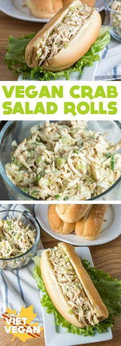 Vegan Crab Salad Rolls - The Viet Vegan
