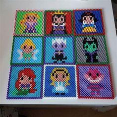 Hama Beads Coasters, Perler Beads, Hama Disney, Pearler Bead Patterns, Perler Patterns, Perler Bead Mario, Pixel Art, Art Perle, Hama Beads Design