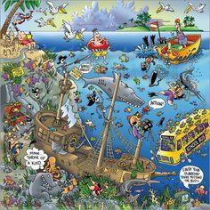 Wandbild von Steve Skelton - Sunken Treasure