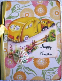 Vintage Trailer Travel Notebook Journal by SewMaryjane on Etsy, $11.00