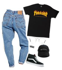 """""""Tomboy """" by seselovly ❤ liked on Polyvore featuring Vans, Ray-Ban and RADisRAD"""