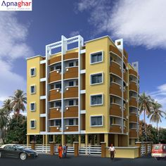 3D Exterior View an apartment. To know more details visit - www.apnaghar.co.in