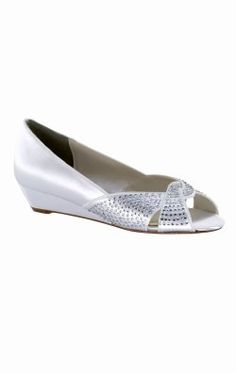 Embellished Satin Wedge by Benjamin Walk 4064
