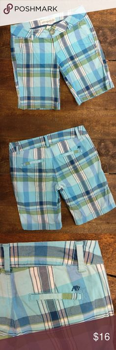 Aeropostale Plaid Cotton Bermuda Shorts Aeropostale  Plaid Bermuda Shorts w/ blues, greens and white Super cute!  97% cotton/ 3% spandex  Gently used, condition Aeropostale Shorts Bermudas