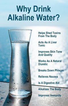 WHY DRINK ALKALINE WATER? Helps shed toxins from the body acts as a liver tonic improves skin tone and quality works as a natural diuretic breaks down phlegm relieves nausea is a digestive aid alkalizes the body improves immunity. Natural Alkaline Water, What Is Alkaline Water, Drinking Alkaline Water, Benefits Of Drinking Water, Natural Diuretic, Alkaline Water Benefits, Tonic Water Benefits, Oil Benefits, Agua Kangen