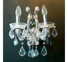 Kinkiet LAMPA ścienna ASTORIA LP-1802/2W Light Prestige dekoracyjna OPRAWA świecznikowa przezroczysty